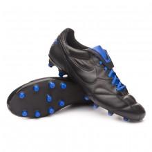 Boot Tiempo Premier II FG Black-Racer blue