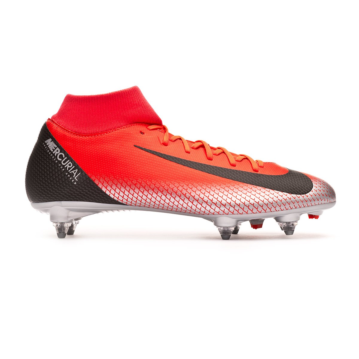 8c3220031 Football Boots Nike Mercurial Superfly VI Academy CR7 SG-Pro Bright crimson- Black-Chrome-Dark grey - Tienda de fútbol Fútbol Emotion