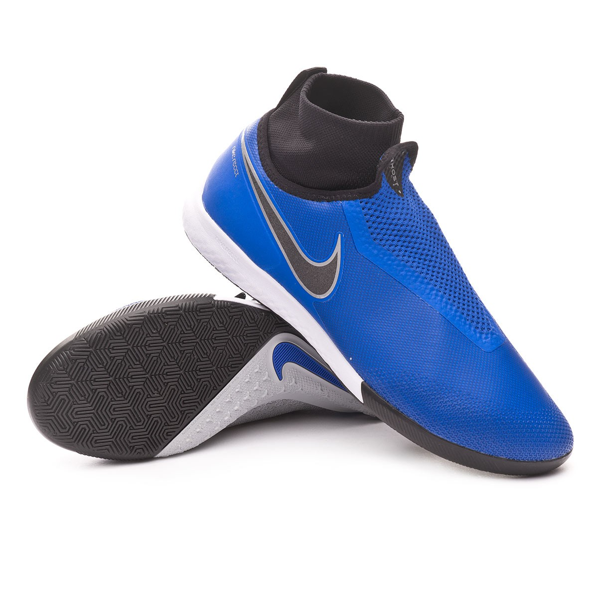 a5501c8f8 Futsal Boot Nike React Phantom Vision Pro DF IC Racer blue-Black ...