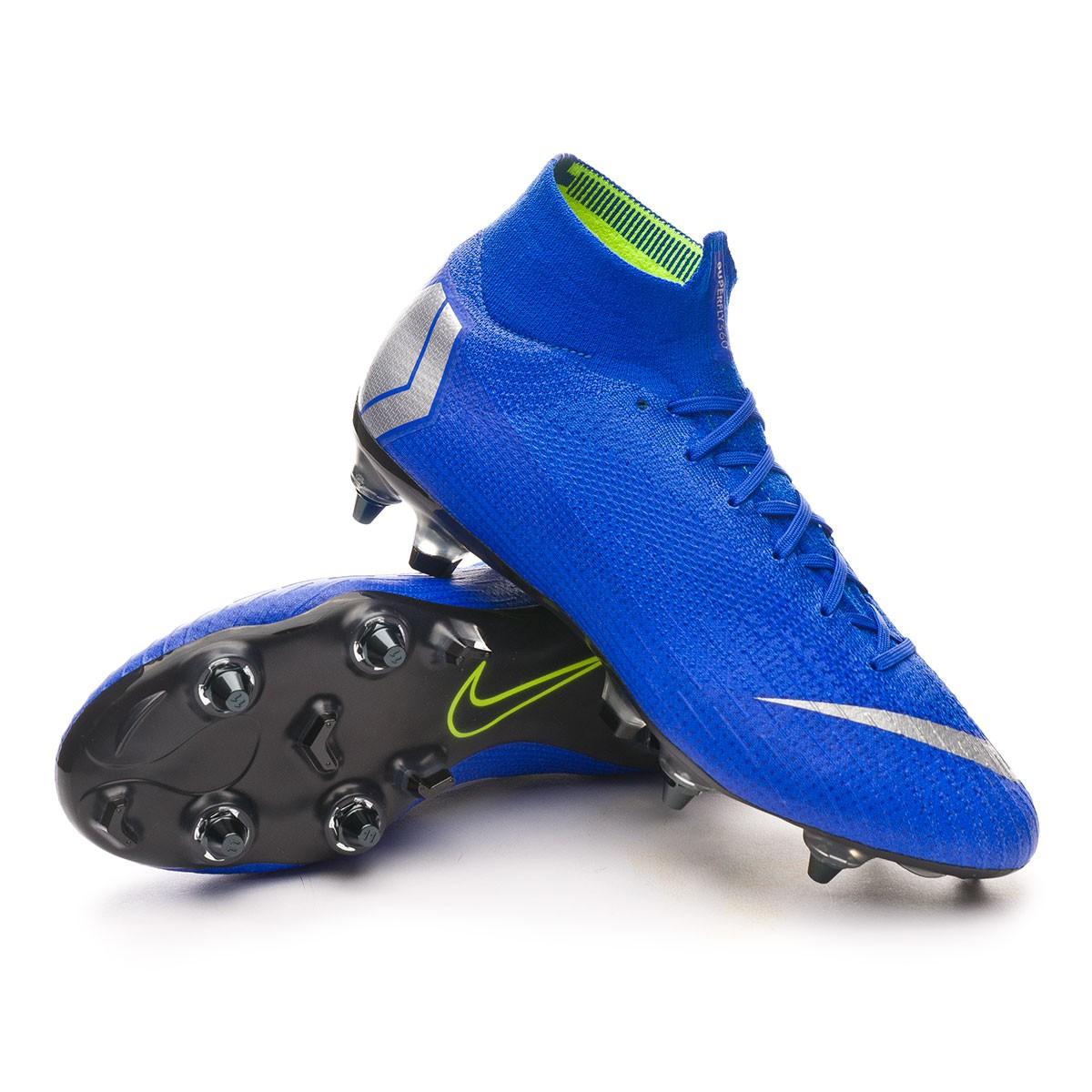 buy online b5192 66ae1 Football Boots Nike Mercurial Superfly VI Elite Anti-Clog SG-Pro Racer blue-Matallic  silver-Black - Tienda de fútbol Fútbol Emotion