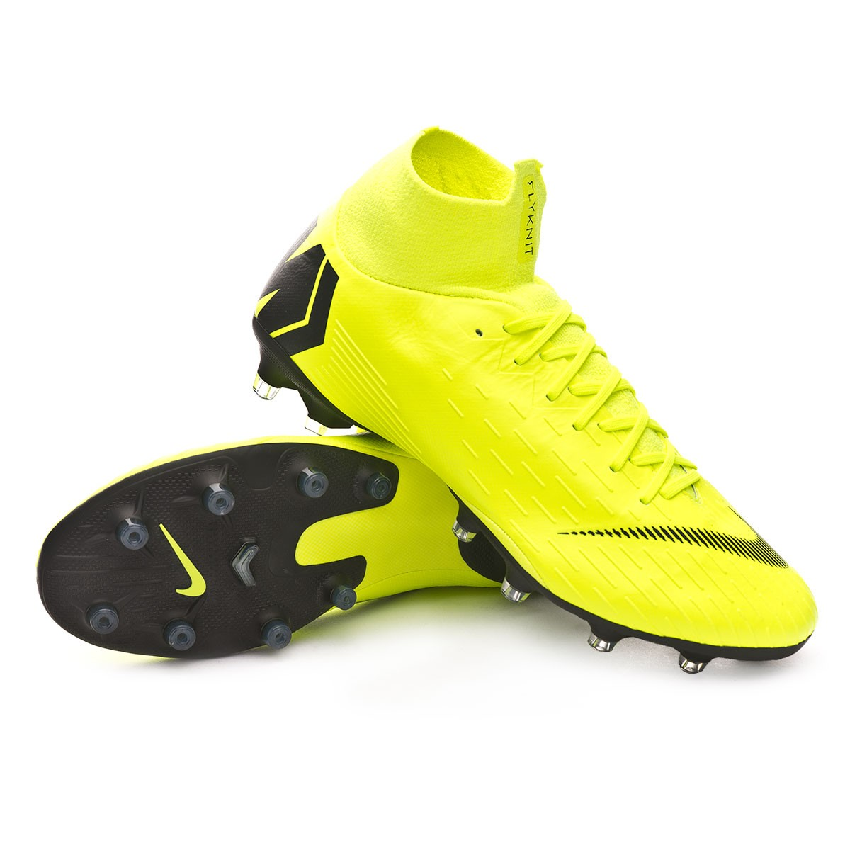 ca738a39611 Football Boots Nike Mercurial Superfly VI Pro AG-Pro Volt-Black - Football  store Fútbol Emotion