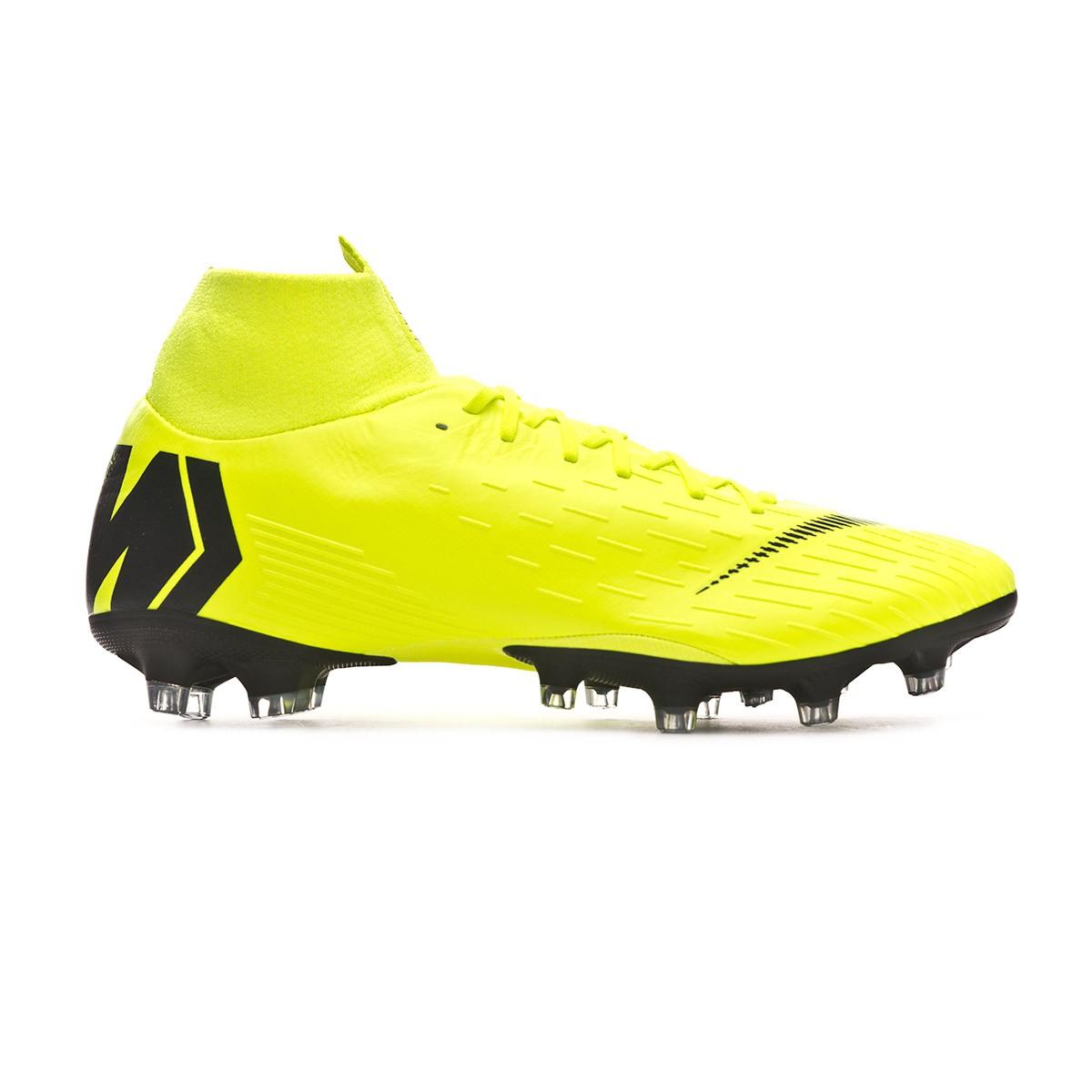 436ed2be43128 Football Boots Nike Mercurial Superfly VI Pro AG-Pro Volt-Black - Tienda de  fútbol Fútbol Emotion