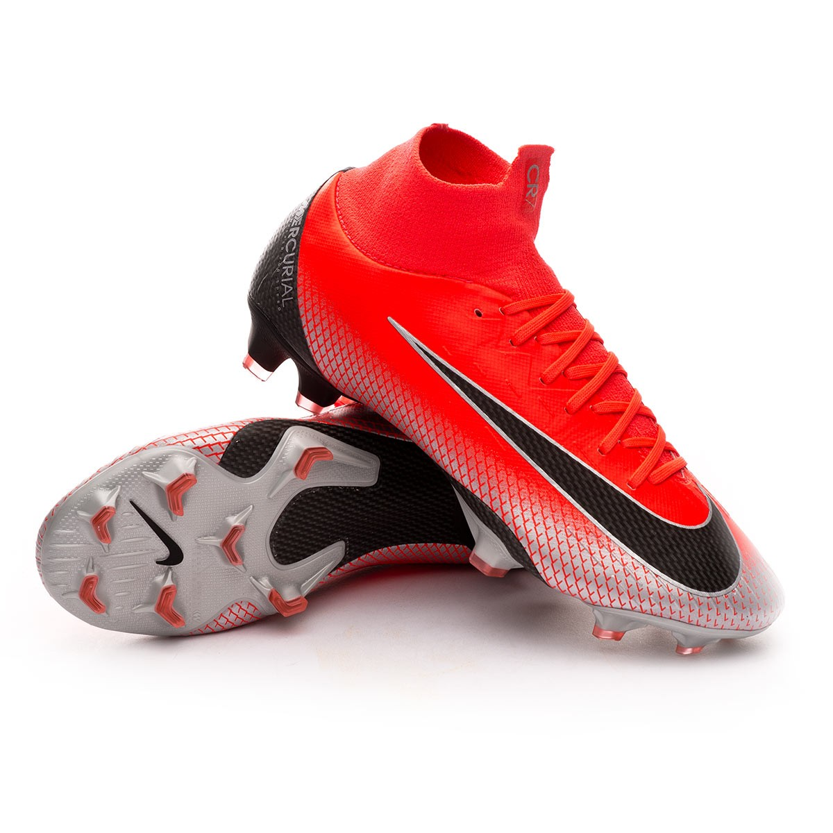 new concept 2f2a3 5f045 Zapatos de fútbol Nike Mercurial Superfly VI Pro CR7 FG Bright crimson-Black-Chrome-Dark  grey - Soloporteros es ahora Fútbol Emotion