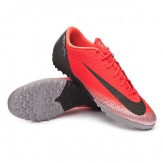 Football Boot  Nike Mercurial VaporX XII Academy CR7 Turf Bright crimson-Black-Chrome-Dark grey