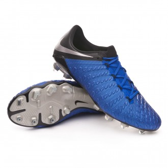 Boot  Nike Hypervenom Phantom III Elite FG Racer blue-Metallic silver-Black-Volt