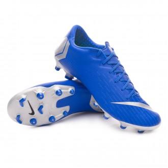 Boot  Nike Mercurial Vapor XII Academy MG Racer blue-Metallic silver-Black-Volt
