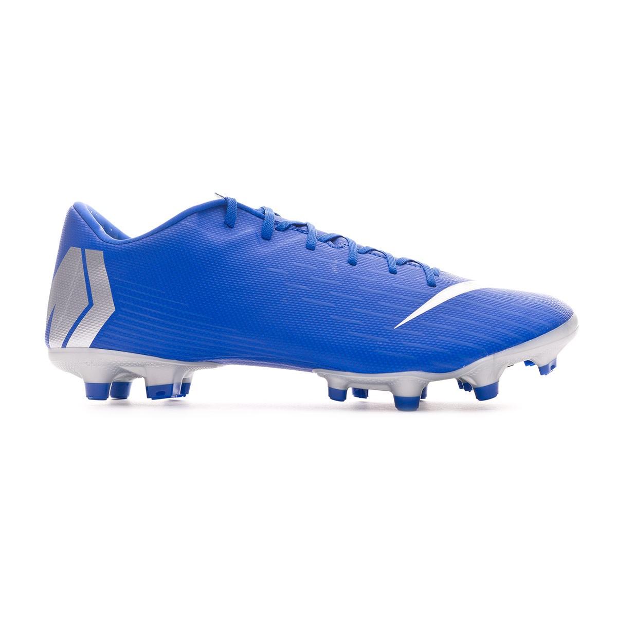 abd7fd27e8a Football Boots Nike Mercurial Vapor XII Academy MG Racer blue-Metallic  silver-Black-Volt - Nike Mercurial Superfly