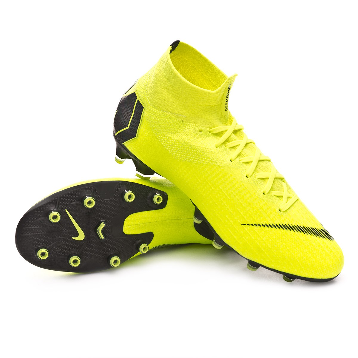 960ac4f3cd2 Football Boots Nike Mercurial Superfly VI Elite AG-Pro Volt-Black ...