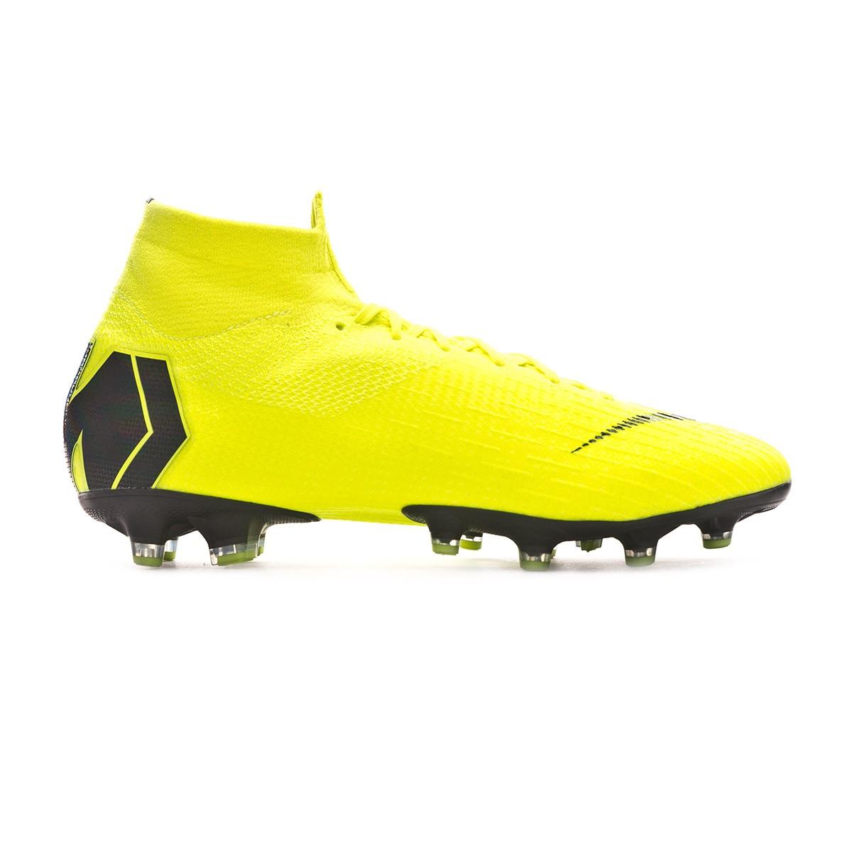 d40d96efe90 Football Boots Nike Mercurial Superfly VI Elite AG-Pro Volt-Black - Football  store Fútbol Emotion