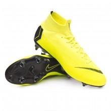 Football Boots Mercurial Superfly VI Elite Anti-Clog SG-Pro Volt-Black