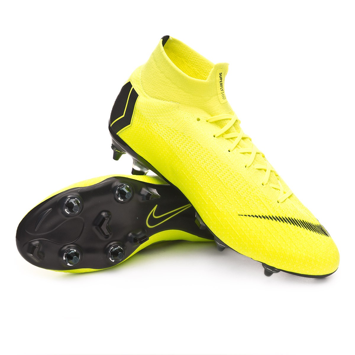 size 40 3dccf 52be9 Chaussure de foot Nike Mercurial Superfly VI Elite Anti-Clog SG-Pro  Volt-Black - Leaked soccer