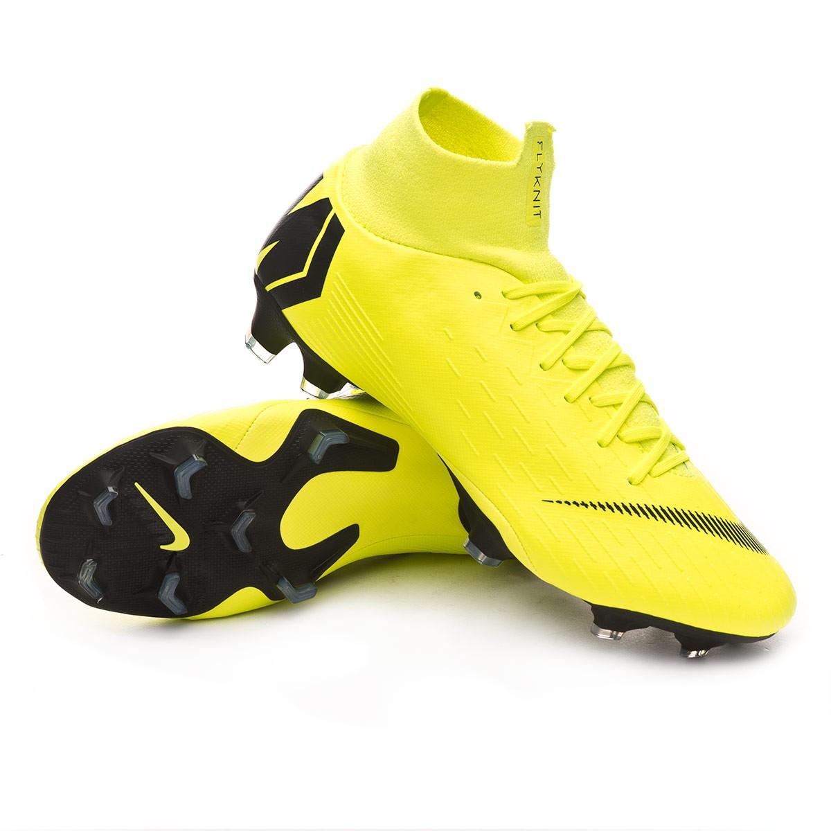 separation shoes 78e09 a8093 Chaussure de foot Nike Mercurial Superfly VI Pro FG Volt-Black - Boutique  de football Fútbol Emotion