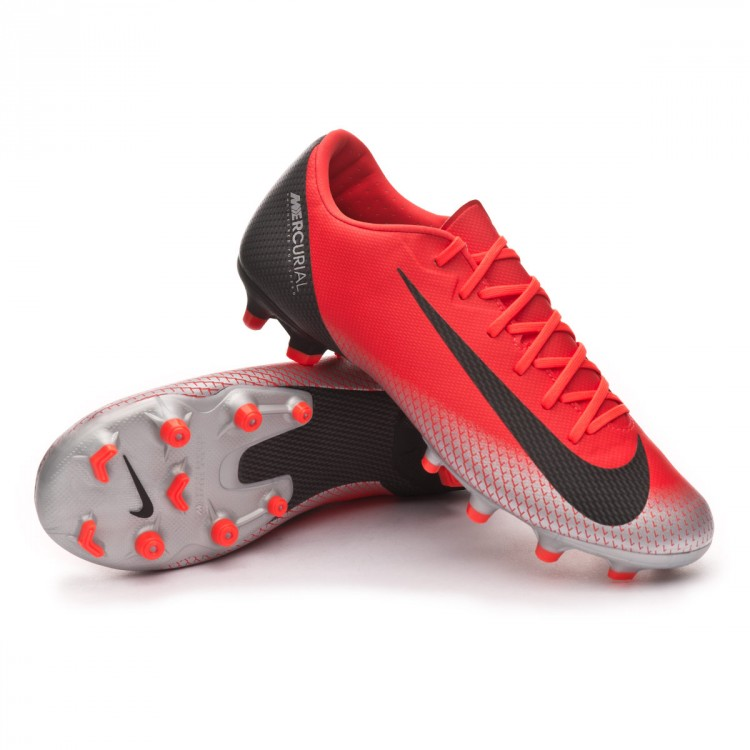 Chuteira Nike Mercurial Vapor XII Academy CR7 MG Bright crimson ... 67792d32666f7