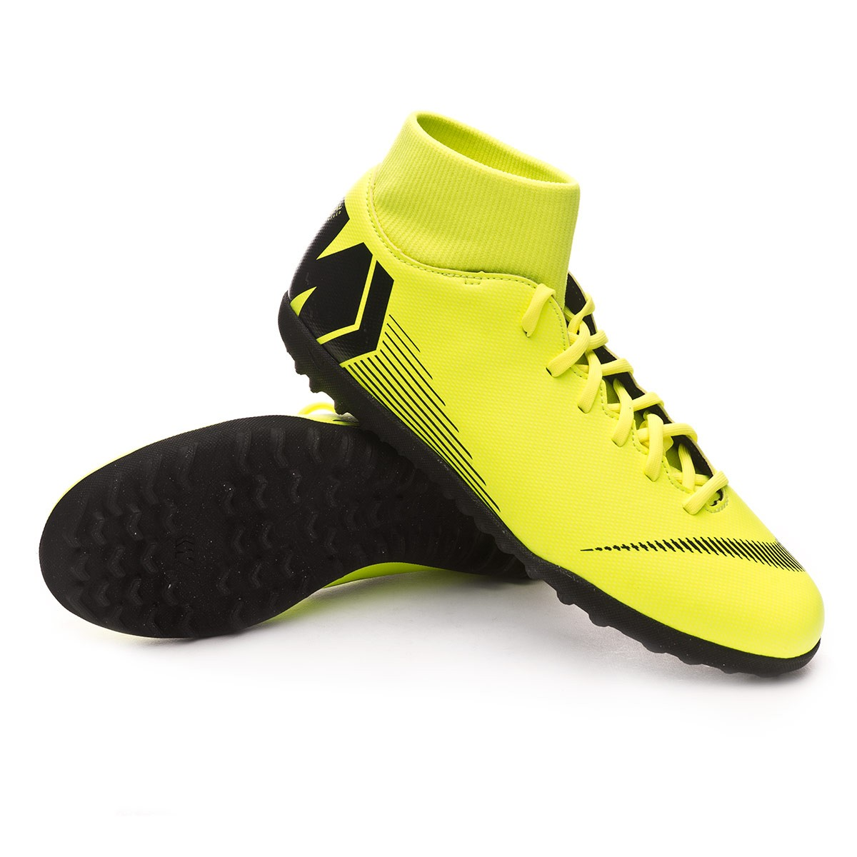 4d00123c3 Football Boot Nike Mercurial SuperflyX VI Club Turf Volt-Black ...