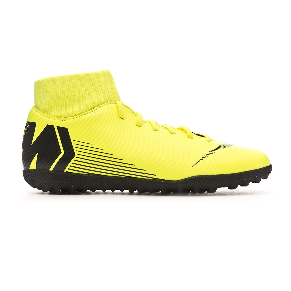 61061b7af Football Boot Nike Mercurial SuperflyX VI Club Turf Volt-Black - Football  store Fútbol Emotion