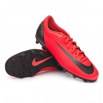 Boot  Nike Mercurial Vapor XII Club CR7 MG Bright crimson-Black-Chrome