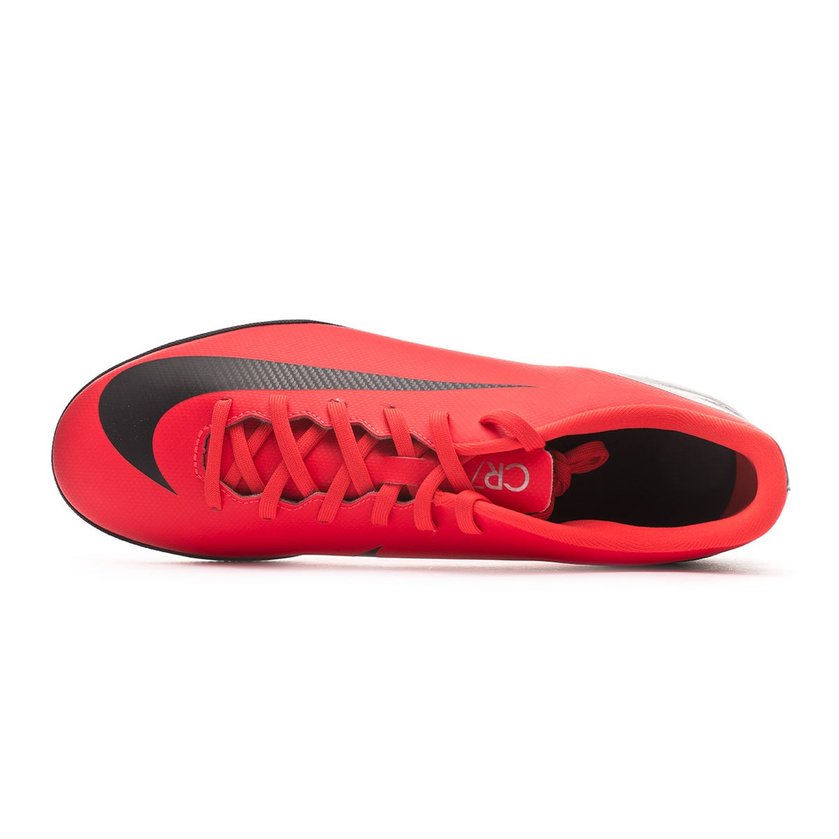 153182f11 Sapatilha de Futsal Nike Mercurial VaporX XII Club CR7 IC Bright crimson- Black-Chrome - Loja de futebol Fútbol Emotion