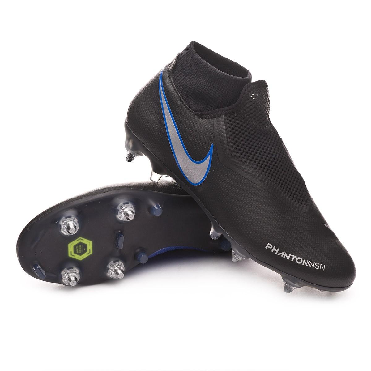online store 38224 33f28 Scarpe Nike Phantom Vision Academy DF ACC SG-Pro Black-Metallic  silver-Racer blue - Negozio di calcio Fútbol Emotion