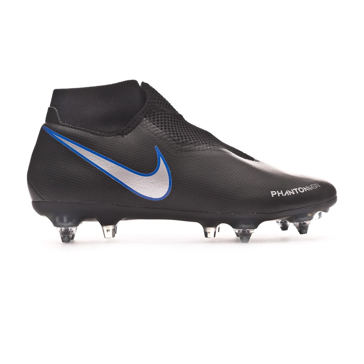 b139b4f3e0b9 Football Boots Nike Phantom Vision Academy DF ACC SG-Pro Black-Metallic  silver-Racer blue - Tienda de fútbol Fútbol Emotion