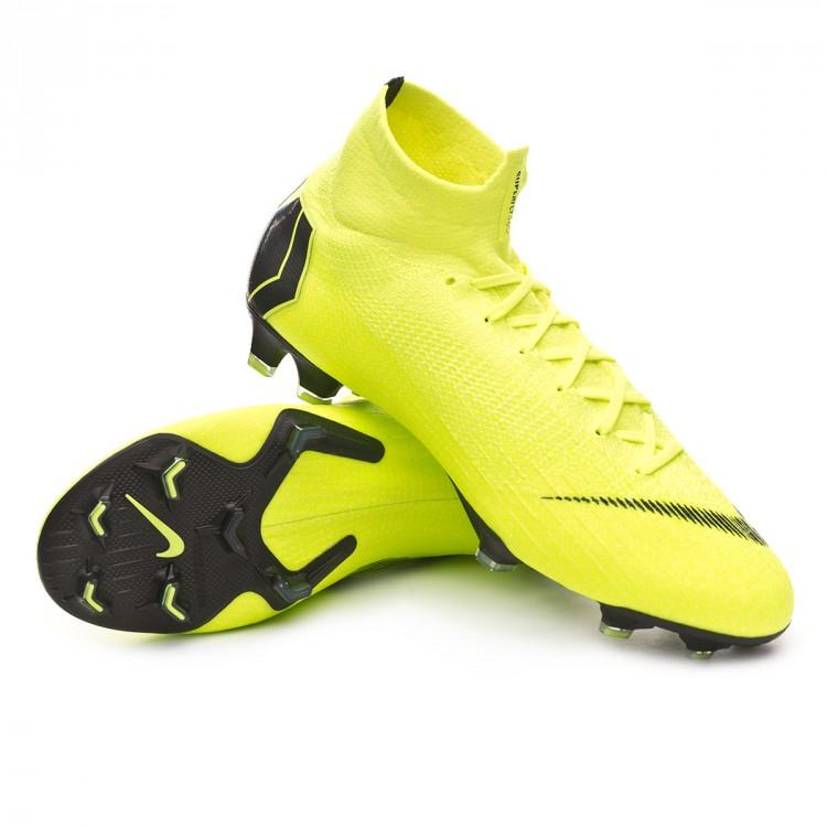 aa7e02f57 Bota de fútbol Nike Mercurial Superfly VI Elite FG Volt-Black ...