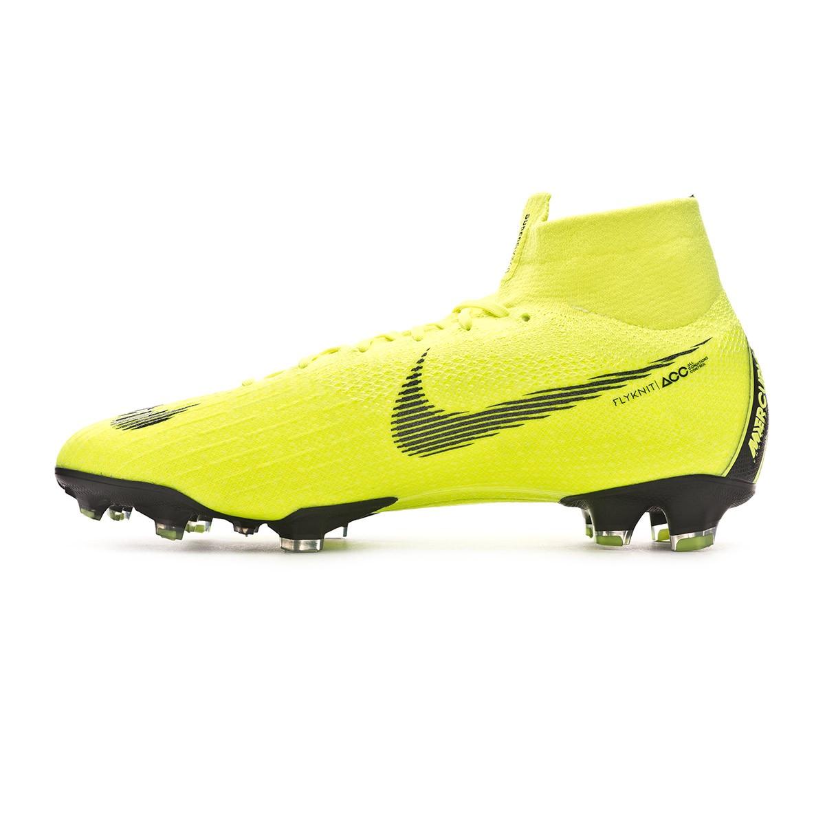 separation shoes 2ef9a 8a0b7 Chaussure de foot Nike Mercurial Superfly VI Elite FG Volt-Black - Tienda  de fútbol Fútbol Emotion