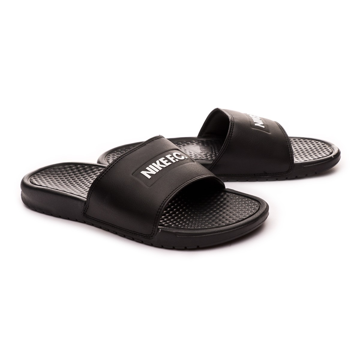 the best attitude 034ba 32e5f Sandales Nike Benassi JDI FC Black-White - Boutique de football Fútbol  Emotion