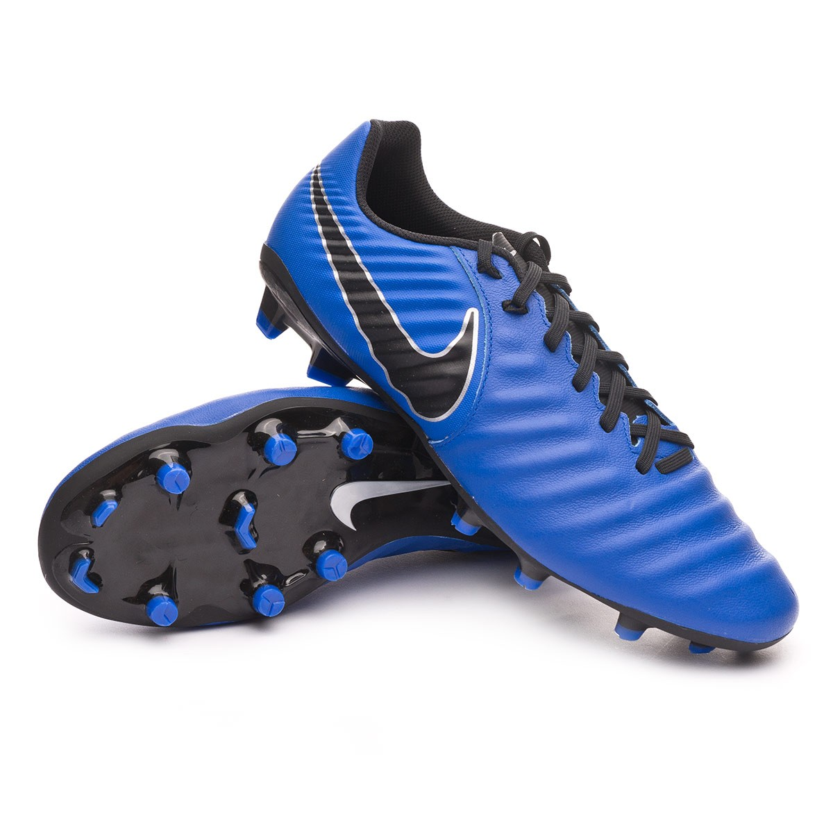 Espectáculo Penetración Implementar  Football Boots Nike Tiempo Legend VII Academy FG Racer blue-Black-Metallic  silver - Football store Fútbol Emotion