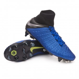 Boot  Nike Hypervenom Phantom III Elite DF Anti-Clog SG-Pro Racer blue-Metallic silver-Black-Volt