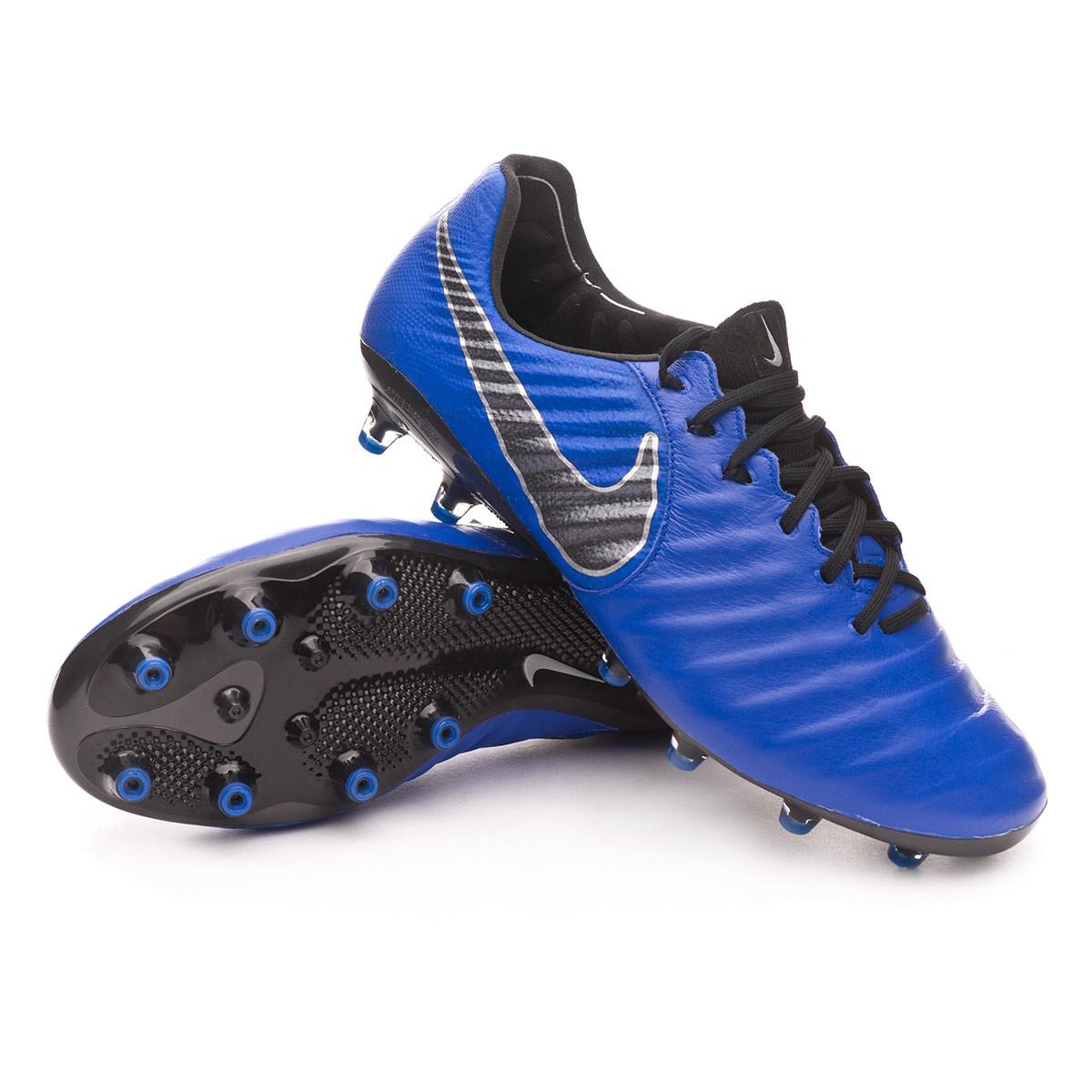 Isla de Alcatraz libro de bolsillo Senado  Football Boots Nike Tiempo Legend VII Elite AG-Pro Racer  blue-Black-Metallic silver - Football store Fútbol Emotion