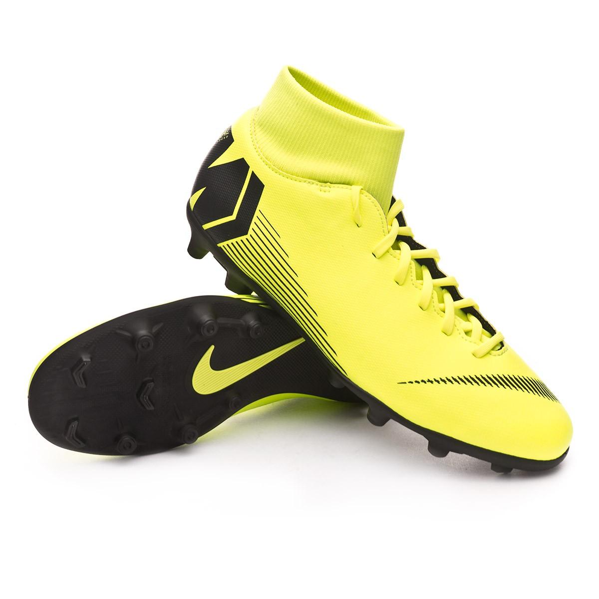 Football Boots Nike Mercurial Superfly VI Club MG Volt-Black ...