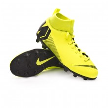 Bota Mercurial Superfly VI Club MG Niño Volt-Black
