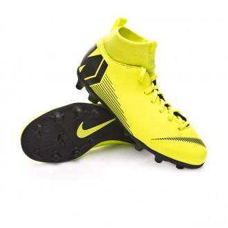 Bota  Nike Mercurial Superfly VI Club MG Niño Volt-Black