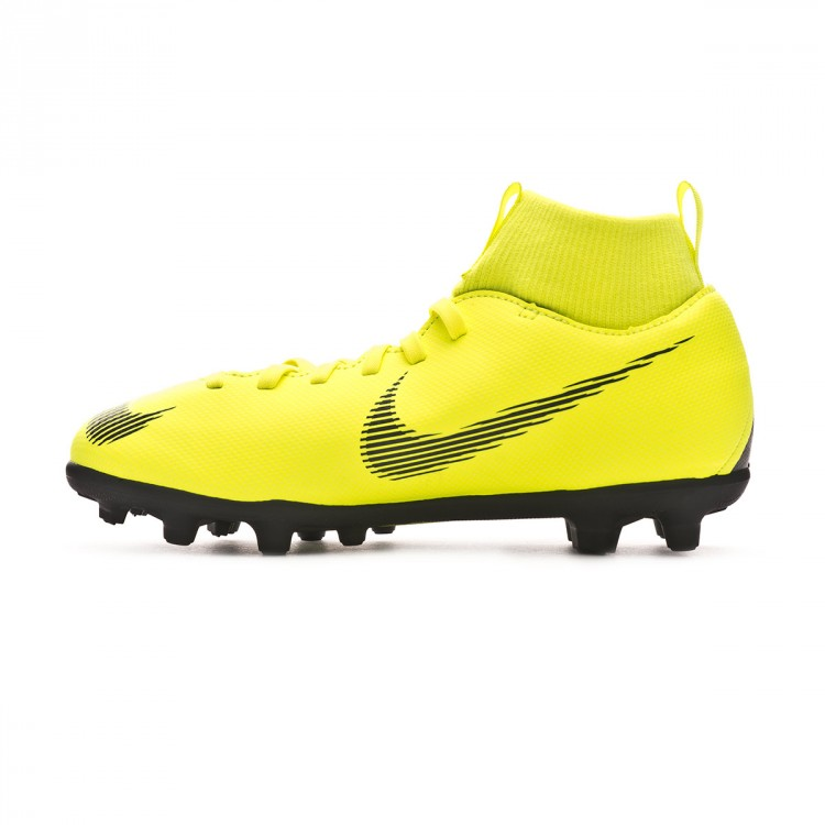 834dc69a5 Football Boots Nike Kids Mercurial Superfly VI Club MG Volt-Black ...