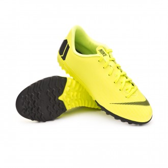 Football Boot  Nike Kids Mercurial VaporX XII Academy Turf  Volt-Black