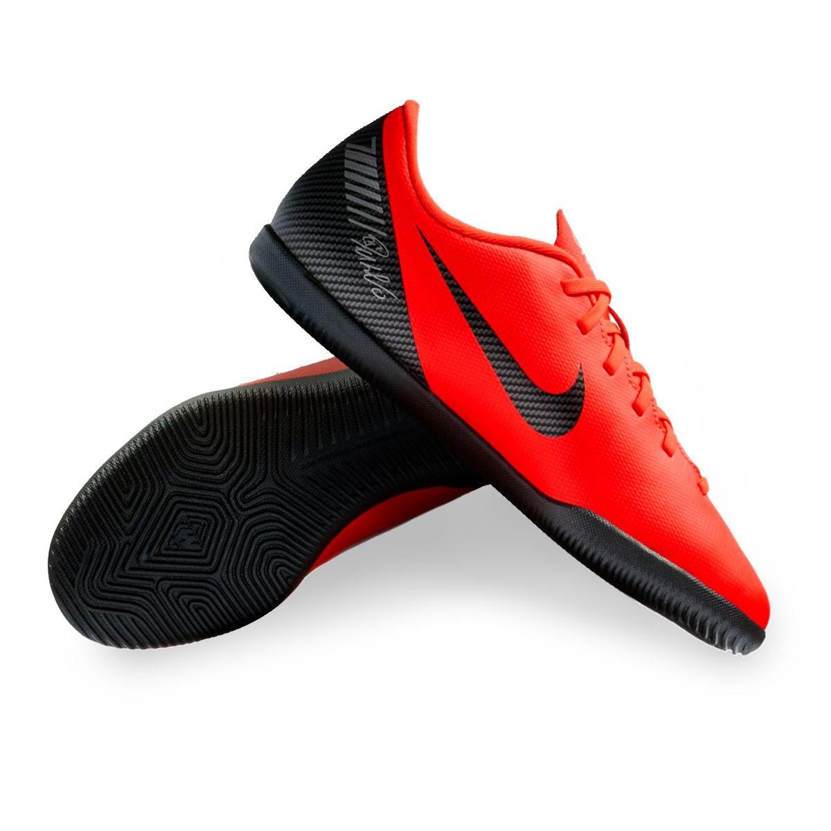 d21cc2db8 Nike Kids Mercurial VaporX XII Club CR7 IC Futsal Boot. Bright crimson-Black-Chrome  ...