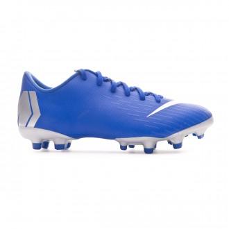 Football Boots  Nike Kids Mercurial Vapor XII Academy MG Racer blue-Metallic silver-Black-Volt
