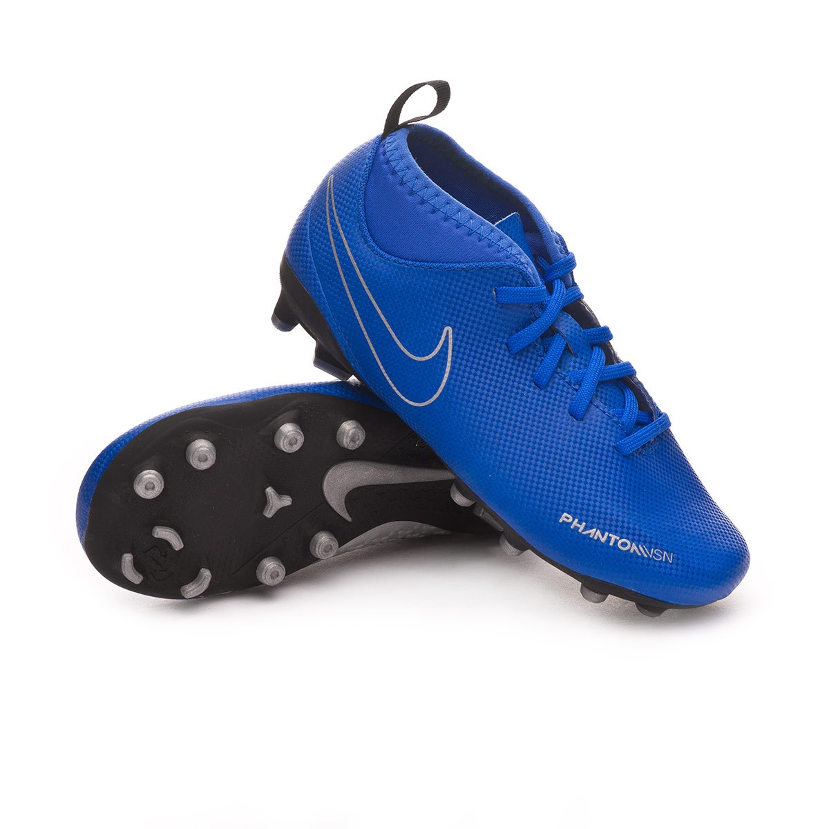 ventilación Locomotora obtener  Football Boots Nike Kids Phantom Vision Club DF FG/MG Racer blue-Black -  Football store Fútbol Emotion