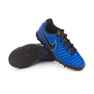 Football Boot  Nike Kids Tiempo LegendX VII Club Turf  Racer blue-Black-Wolf grey