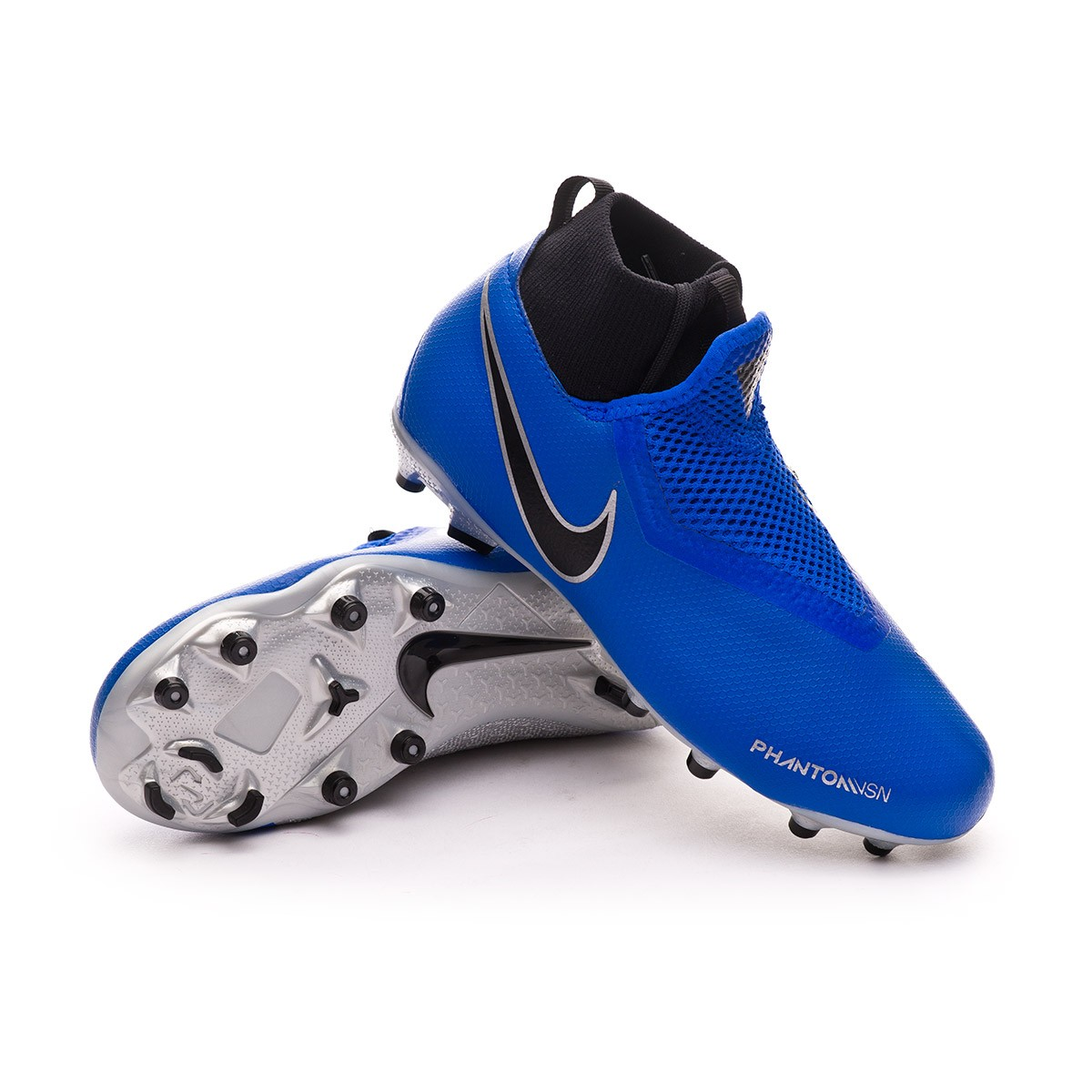 ead5cef86 Football Boots Nike Kids Phantom Vision Academy DF FG/MG Racer blue ...