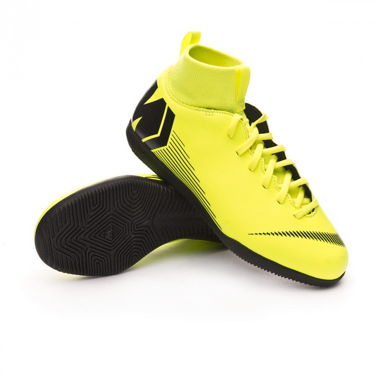 a15ec93ba73 Futsal Boot Nike Kids Mercurial SuperflyX VI Club IC Volt-Black ...