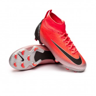 Bota  Nike Mercurial Superfly VI Elite CR7 FG Niño Flash crimson-Black-Chrome-Dark grey
