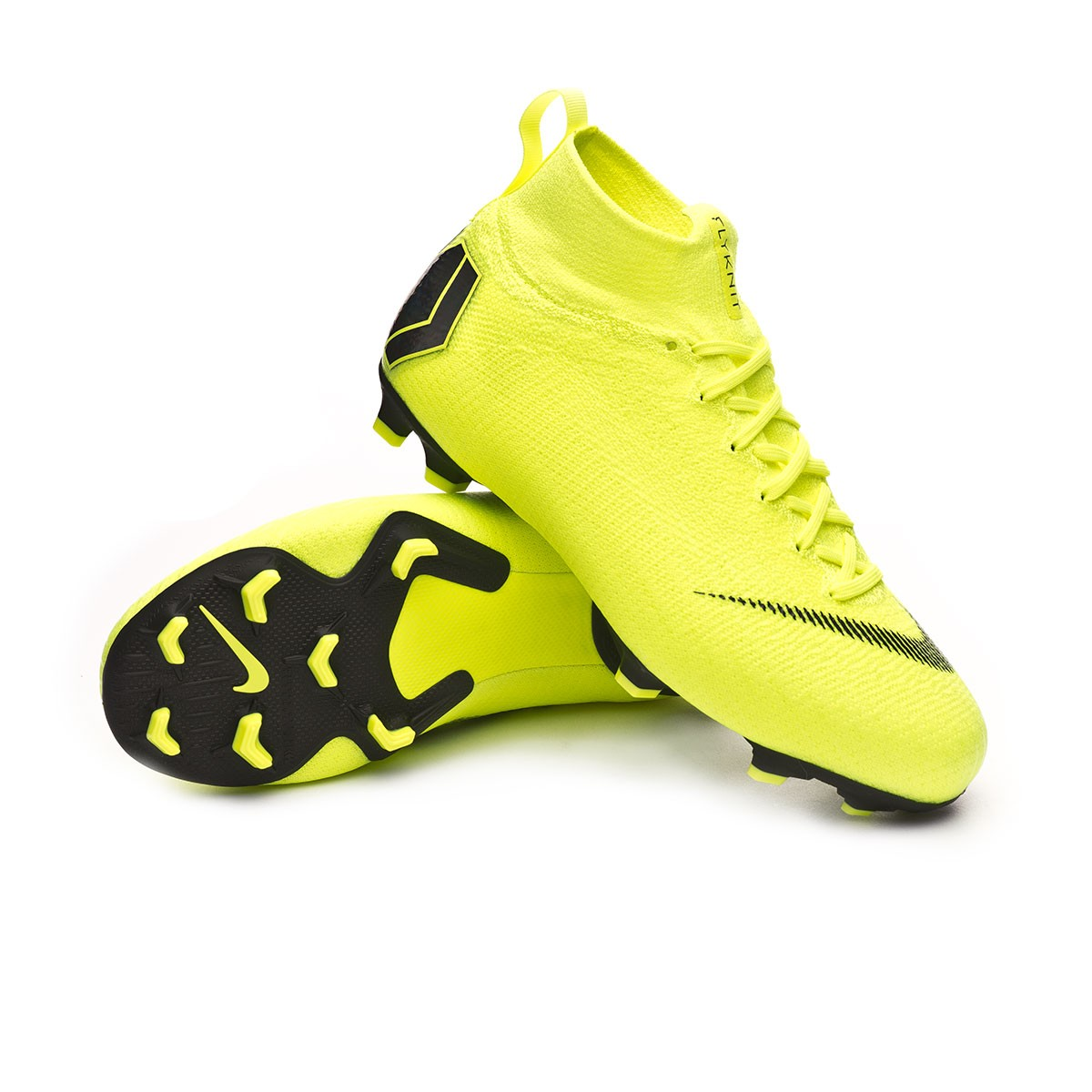 9874d623599 Bota Mercurial Superfly VI Elite FG Niño Volt-Black
