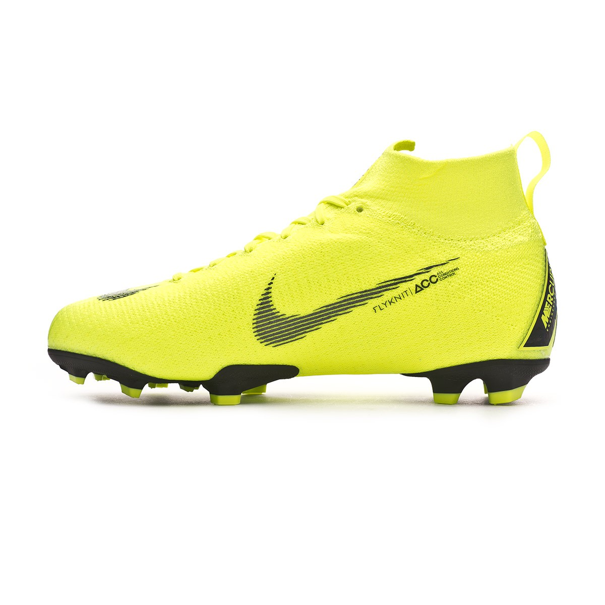newest 16465 1ea61 Boot Nike Kids Mercurial Superfly VI Elite FG Volt-Black - L