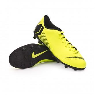 Chuteira  Nike Mercurial Vapor XII Club MG Niño Volt-Black