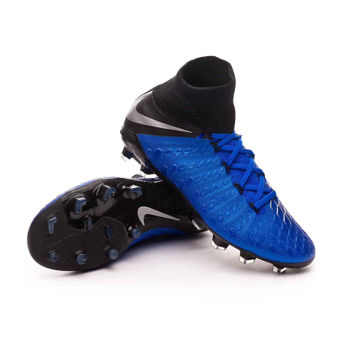 1e50d4cd3734 ... Bota Hypervenom Phantom III Elite DF FG Niño Racer blue-Metallic  silver-Black-. CATEGORY