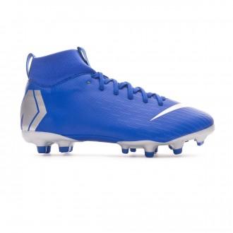 Football Boots  Nike Kids Mercurial Superfly VI Academy MG Racer blue-Metallic silver-Black-Volt