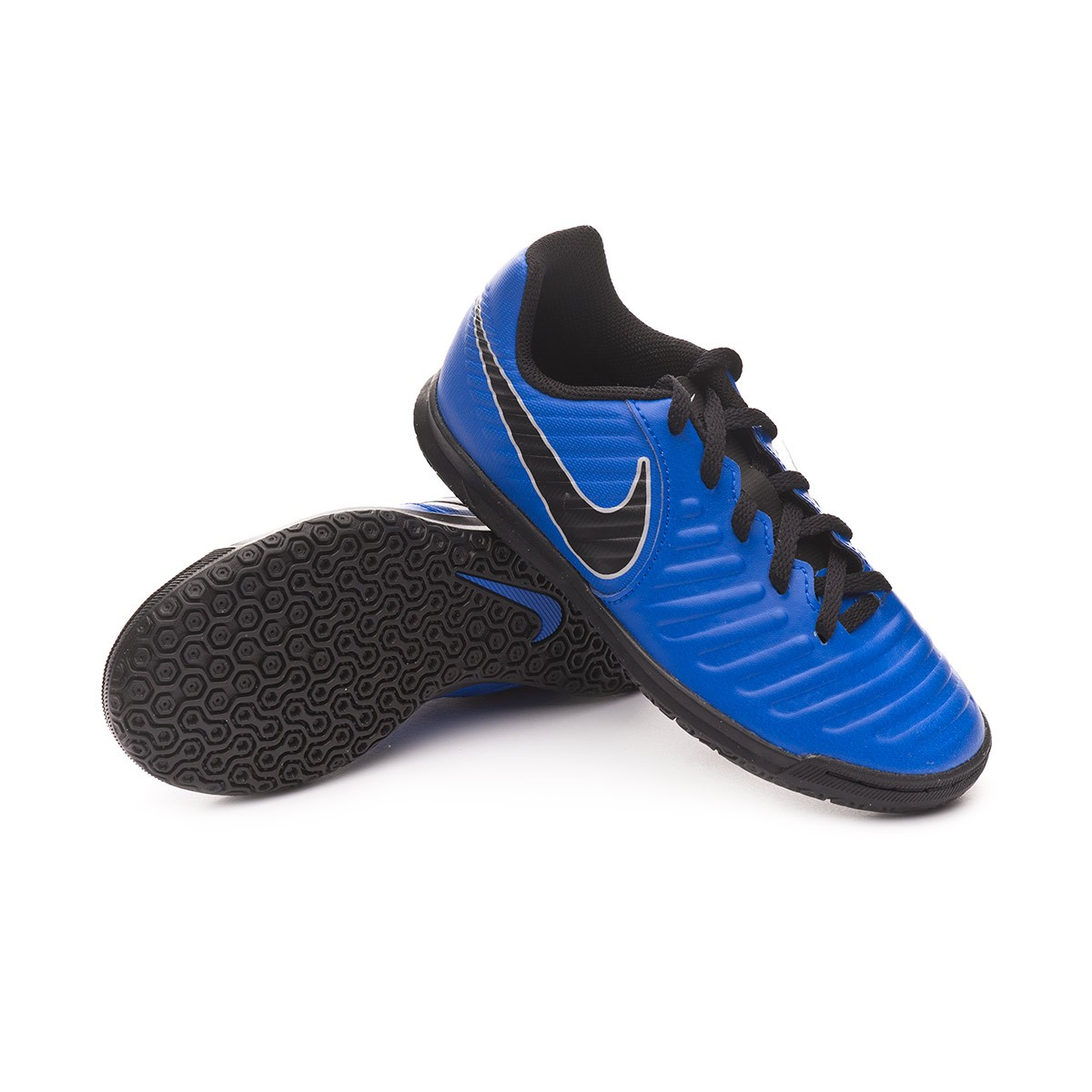 wholesale dealer 7b1a2 879e9 Futsal Boot Nike Kids Tiempo LegendX VII Club IC Racer blue-Black-Wolf grey  - Tienda de fútbol Fútbol Emotion