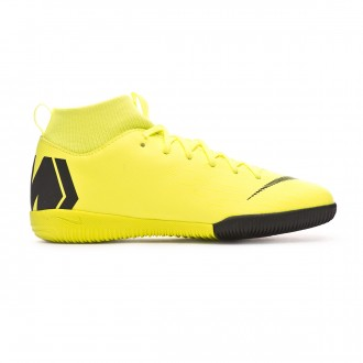 Futsal Boot  Nike Kids Mercurial SuperflyX VI Academy IC Volt-Black