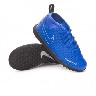 Football Boot  Nike Kids Phantom Vision Club DF Turf  Racer blue-Black-Metallic silver-Volt