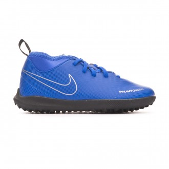 Zapatilla  Nike Phantom Vision Club DF Turf Niño Racer blue-Black-Metallic silver-Volt